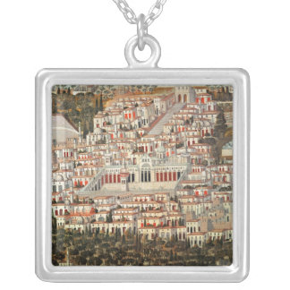 View of the city of Damascus Silver Plated Necklace