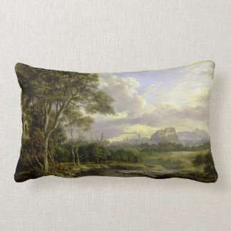 View of the City of Edinburgh c1822 Lumbar Cushion