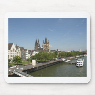 View of the city of Koeln (Cologne) in Germany Mousemats