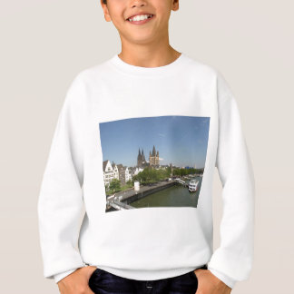 View of the city of Koeln (Cologne) in Germany Sweatshirt