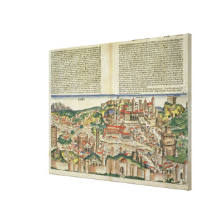 View of the City of Rome, from the Nuremberg Chron Canvas Print