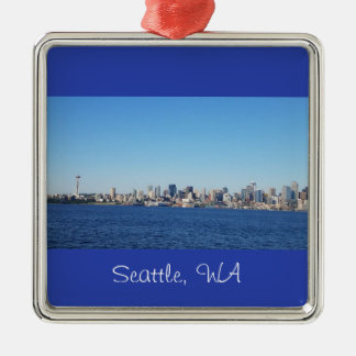 View of the City of Seattle Washington Ornament