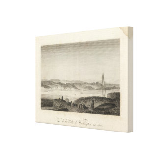 View of the City of Washington in 1800 Canvas Print
