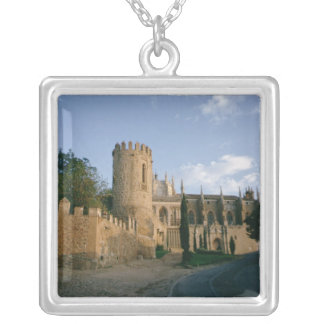 View of the city silver plated necklace