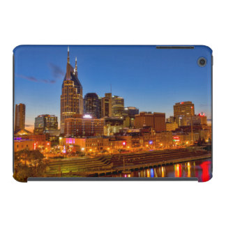 View of the city skyline at dusk iPad mini cover