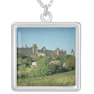 View of the city walls silver plated necklace