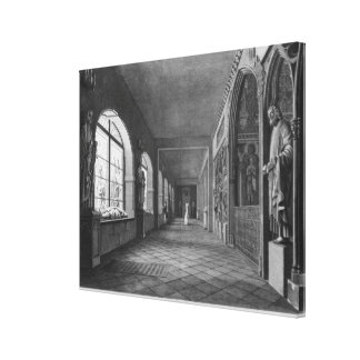 View of the cloister, Musee des Monuments Canvas Print