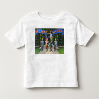 View of the Color Guard Standing Alert Toddler T-Shirt