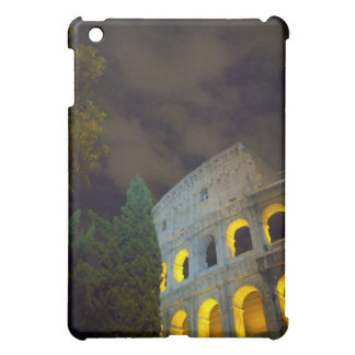 View of the Coloseum in Rome at night Cover For The iPad Mini