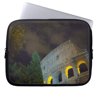 View of the Coloseum in Rome at night Laptop Sleeve