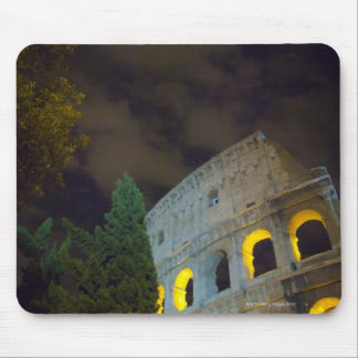 View of the Coloseum in Rome at night Mouse Mat
