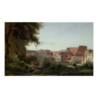 View of the Colosseum from the Farnese Gardens Poster