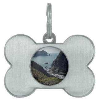 View of the Cornish coast Pet Tag