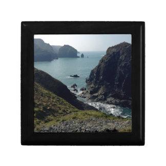 View of the Cornish coast Small Square Gift Box