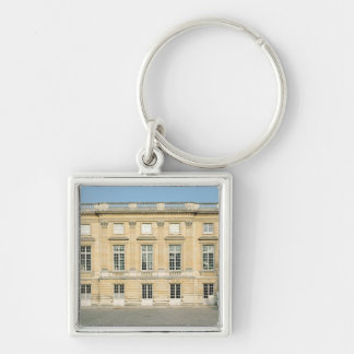 View of the Courtyard Facade of the Petit Silver-Colored Square Key Ring