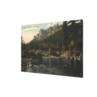 View of the Crags, Castle Rock Canvas Print