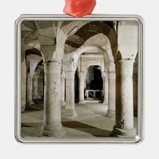 View of the crypt christmas ornament