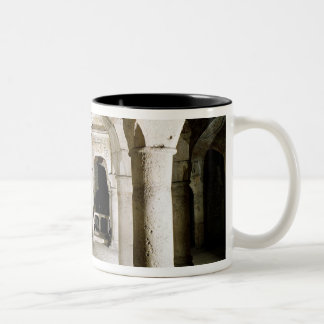 View of the crypt Two-Tone coffee mug