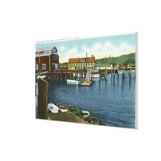 View of the Docks Canvas Print