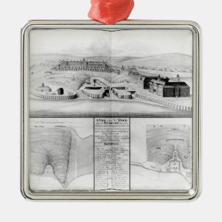 View of the Dockyard at Plymouth, 1608 Christmas Ornament