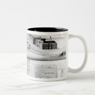 View of the Dockyard at Plymouth, 1608 Two-Tone Coffee Mug