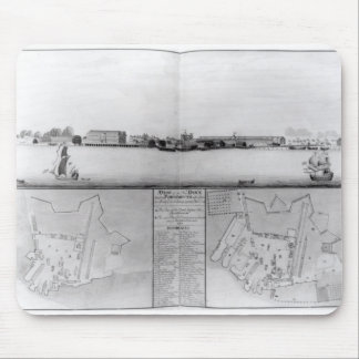 View of the Dockyard at Portsmouth Mouse Mat