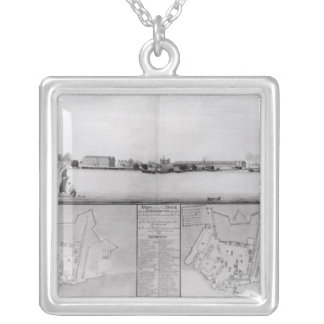 View of the Dockyard at Portsmouth Silver Plated Necklace