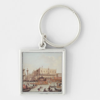 View of the Doge's Palace and the Piazzetta Silver-Colored Square Key Ring