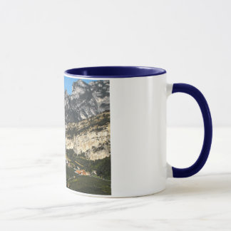 View of the Dolomite mountains in Northern Italy Mug