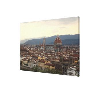 View of the Duomo Santa Maria Del Fiore in Stretched Canvas Print