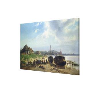 View of the Dutch Coast Canvas Print