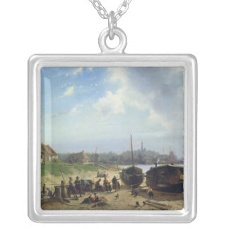 View of the Dutch Coast Silver Plated Necklace