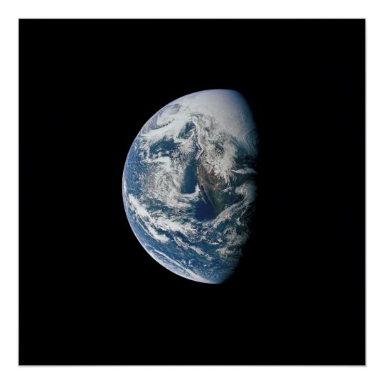 View of the Earth from Apollo 13 Poster