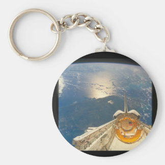 View of the Earth from the Shuttle_Space Basic Round Button Key Ring