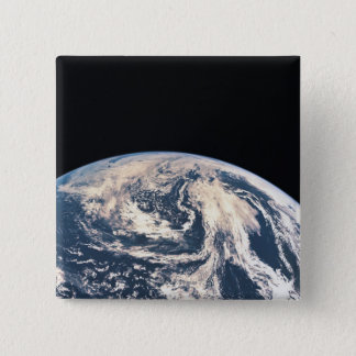 View of the Earths Surface 15 Cm Square Badge