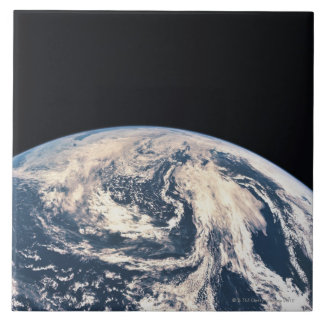 View of the Earths Surface Large Square Tile