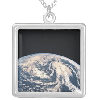 View of the Earths Surface Silver Plated Necklace