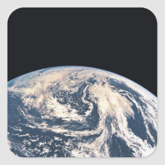 View of the Earths Surface Square Sticker