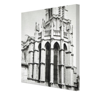 View of the east end of the church, built canvas print