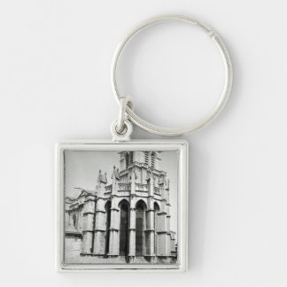 View of the east end of the church, built keychain