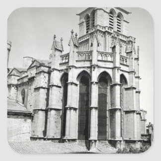 View of the east end of the church, built square sticker