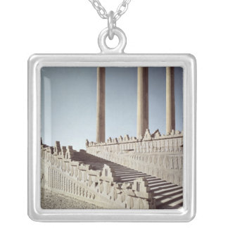 View of the east staircase of the Apadana Silver Plated Necklace