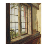 View of the Elbe through a Window, 1838 Canvas Print
