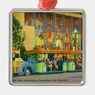 View of the Elephant Train Christmas Ornament