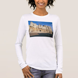 View of the entrance facade of the Palace (photo) Long Sleeve T-Shirt
