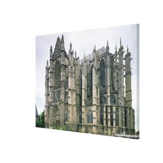 View of the exterior, begun 1225 (photo) canvas print