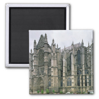View of the exterior, begun 1225 (photo) square magnet