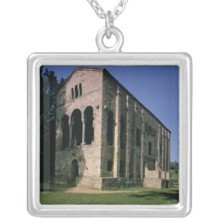 View of the exterior from the South-East Silver Plated Necklace