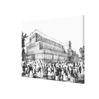 View of the Exterior of the Crystal Palace Canvas Print