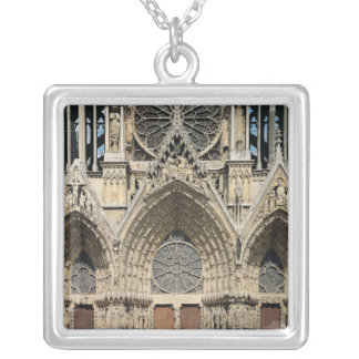 View of the facade, 13th-14th century silver plated necklace